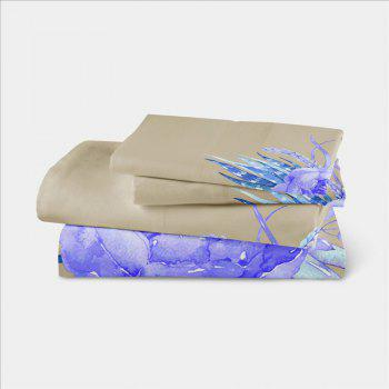 Embroidered Leaf Petals Color Painting Series Three Pieces of Bedding Saussurea Sk01 - BEIGE CALIFORNIA KING