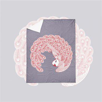 Embroidered Swan Feather Series Three Pieces of Bedding SK03 - GRAY SINGLE