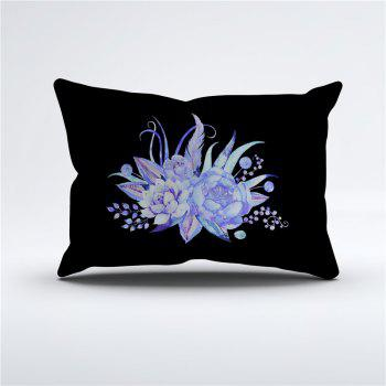 Embroidered Leaf Petals Color Painting Series Three Pieces of Bedding Set - BLACK DOUBLE