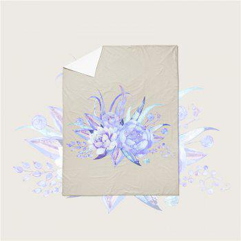 Embroidered Leaf Petals Color Painting Series Three Pieces of Beddin - BEIGE CALIFORNIA KING