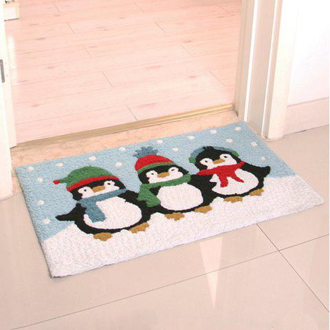 Tapis de sol Cartoon Lovely Penguin Pattern - multicolore 50X80CM