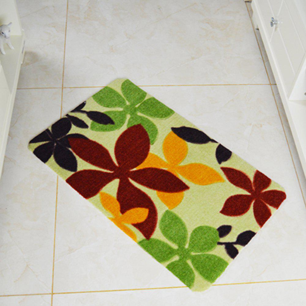 Bathroom Door Mats Bauhinia Leaf Pattern Soft Floor Mat - COLORMIX 50X80CM