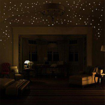 253 pcs Lumineux Glow Dark Moon Ronde Dot Stickers Muraux Maison Plafond Décor - Jaune