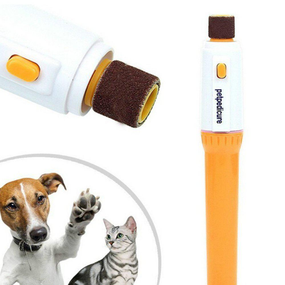 Pet Dog Cat Nail Grooming Grinder Trimmer - YELLOW