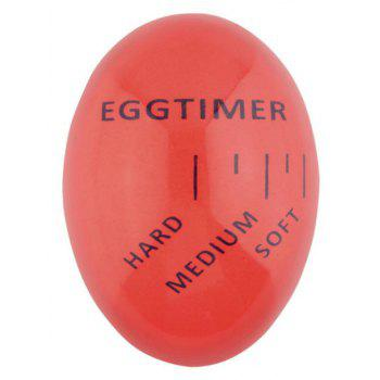 1 pcs EggColor Changing Soft Hard Boiled Eggs Cooking Kitchen Resin Eggs Timer - RED