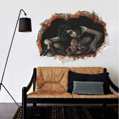 Wall Decals Horror Themes Room Wall Stickers Decorations - BLACK