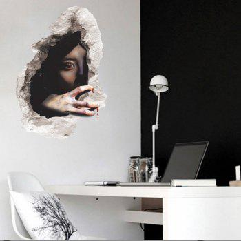 Wall Decals Horror Themes Room Wall Stickers Decorations - BROWN