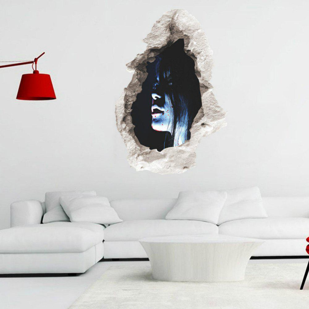 Wall Decals Horror Themes Room Wall Stickers Decorations - BLUE/BLACK