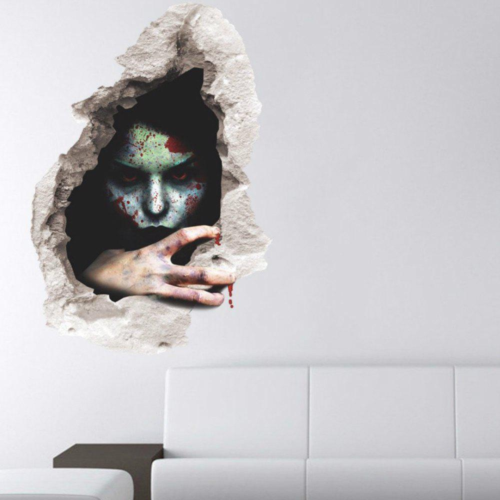 Wall Decals Horror Themes Room Wall Stickers Decorations - BLACK/GREEN