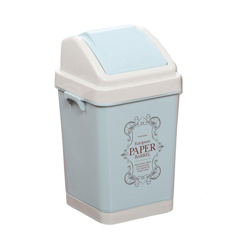 Kitchen Bathroom Living Room Bedroom Large Trash Can - BLUE
