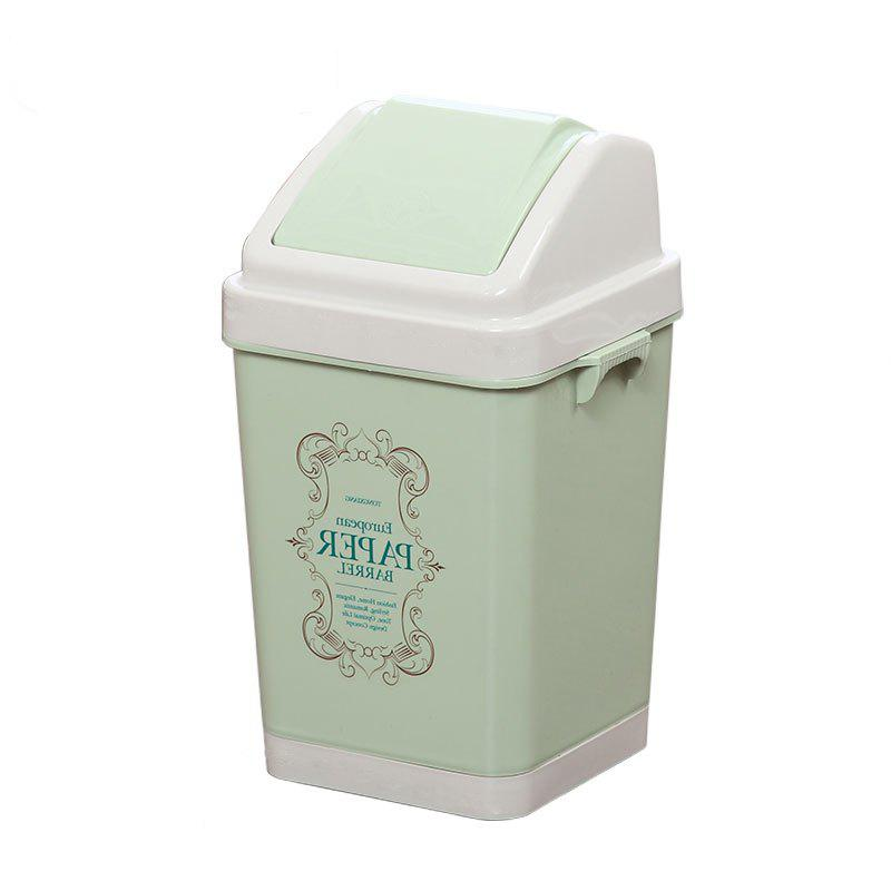 Kitchen Bathroom Living Room Bedroom Large Trash Can - GREEN