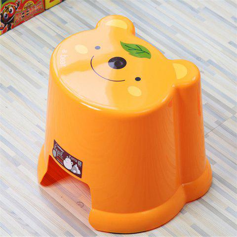 Toilet Baby Cartoon Bathroom Change Shoes Stool - MANDARIN 23.5X25.5X20