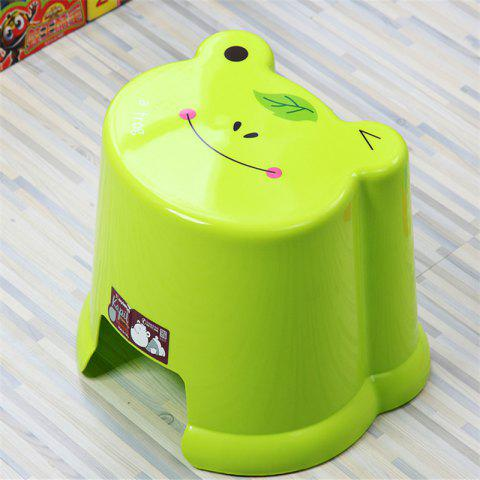 Toilet Baby Cartoon Bathroom Change Shoes Stool - GREEN 19.8X19.5X12