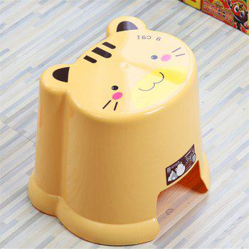 Toilet Baby Cartoon Bathroom Change Shoes Stool - YELLOW 23.5X25.5X20