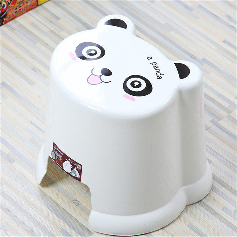 Toilet Baby Cartoon Bathroom Change Shoes Stool - WHITE 19.8X19.5X12
