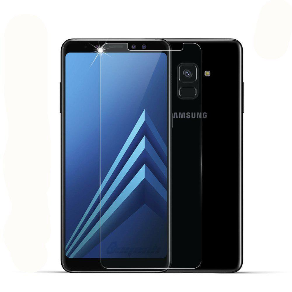 2PCS Screen Protector for Samsung Galaxy A8 Plus 2018 High Sensitivit HD Full Coverage High Clear Premium Tempered Glass - TRANSPARENT