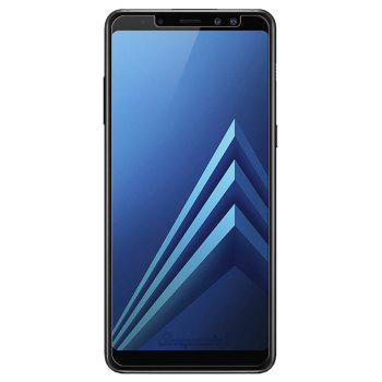 Screen Protector for Samsung Galaxy A8 Plus 2018 High Sensitivit HD Full Coverage High Clear Premium Tempered Glass - TRANSPARENT