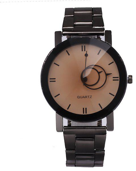 V5 Stainless Stee Band Creative Couple Quartz Watch - WHITE