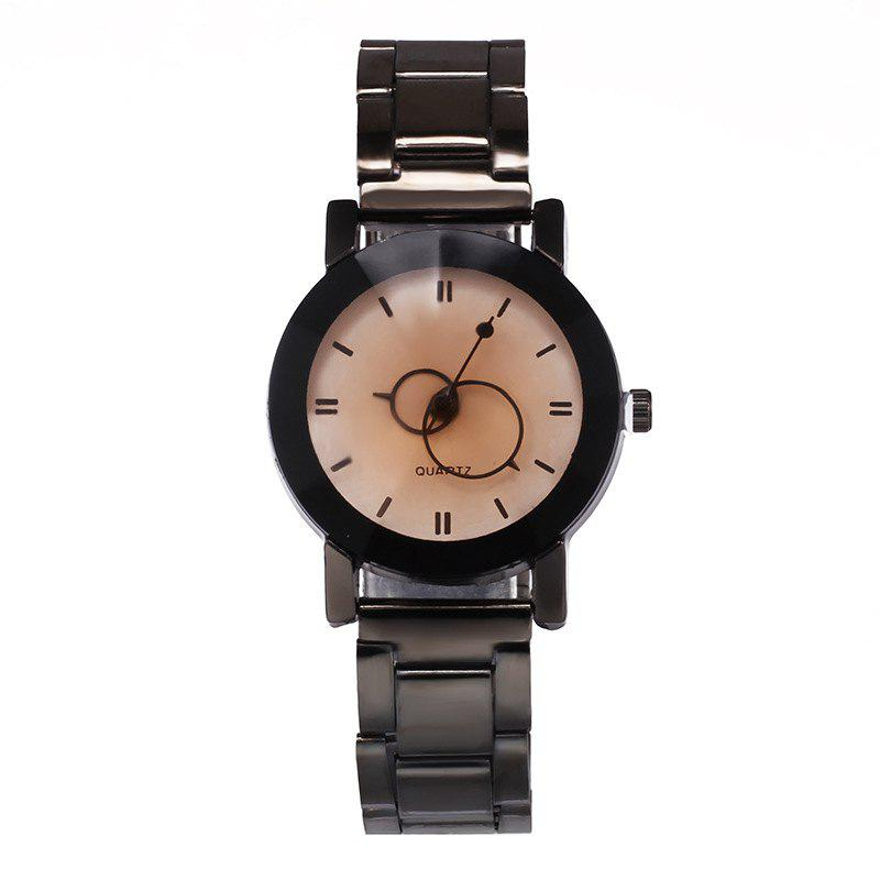 V5 Stainless Stee Band Creative Couple Quartz Watch - WHITEB