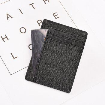 Leather Card Holder Anti-theft Card Package Ultra-thin Men Card Multi-card - BLACK