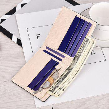 Men's Short Cross Pattern Wallet Korean Fashion Cross-section Student Wallet Youth Purses - BLUE