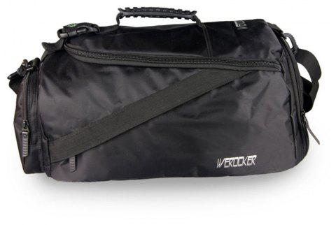 Werocker Men  's de grande capacité Fitness Sports sac à main - Noir