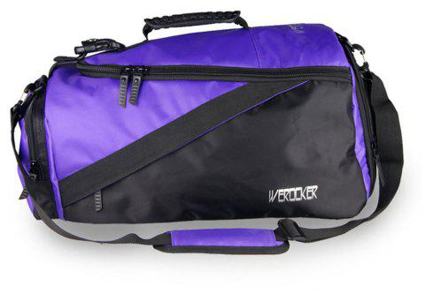 Werocker Men's Large Capacity Fitness Sports Handbag - PURPLE