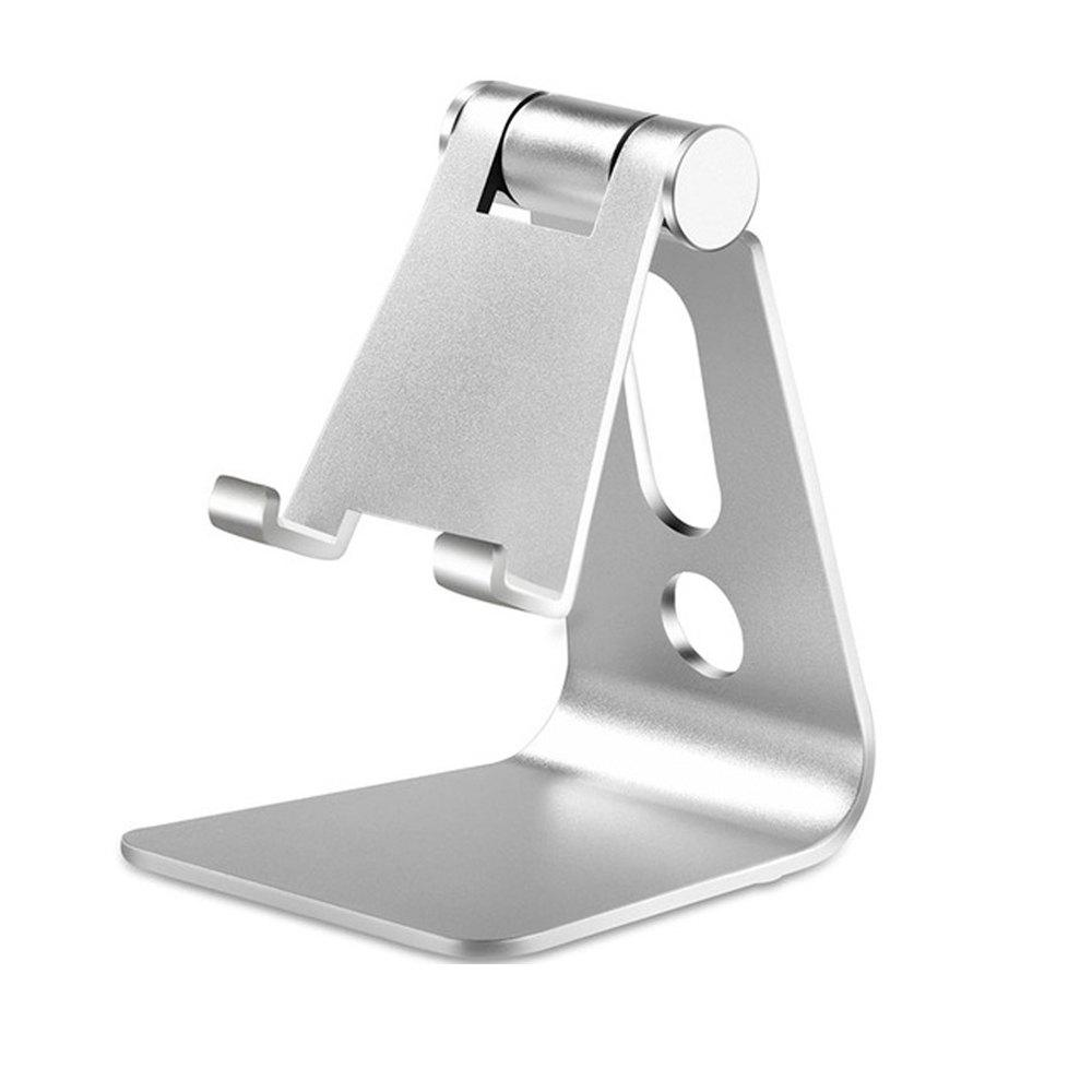 Universal Mount Desk Adjustable Tablets Stand  Mobile Phone Holder for iPhone - SILVER