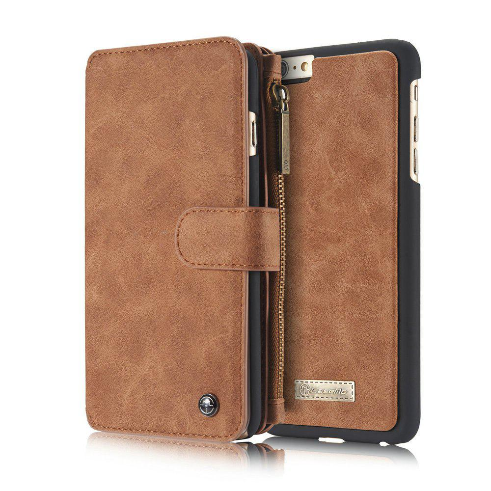 CaseMe for iPhone 6/6S 4.7 inch Multifunctional Wallet Leather Case with Detachable TPU PC Inner Cover - BROWN
