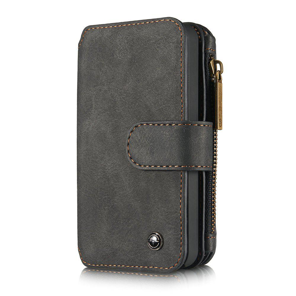 CaseMe for iPhone 5/5S/SE Premium PU Leather 2 in 1 Wallet Case with Kickstand 14 Card Holder and ID Slot - BLACK