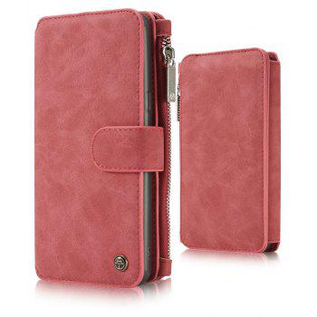 CaseMe for Samsung Galaxy S8 Retro Premium PU Leather Wallet 2 in 1 Design Case with Detachable TPU PC inner Cover - RED