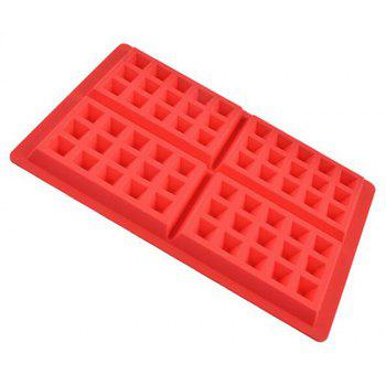 Waffle Makers for Kids Waffle Mould Nonstick Silicone - RED