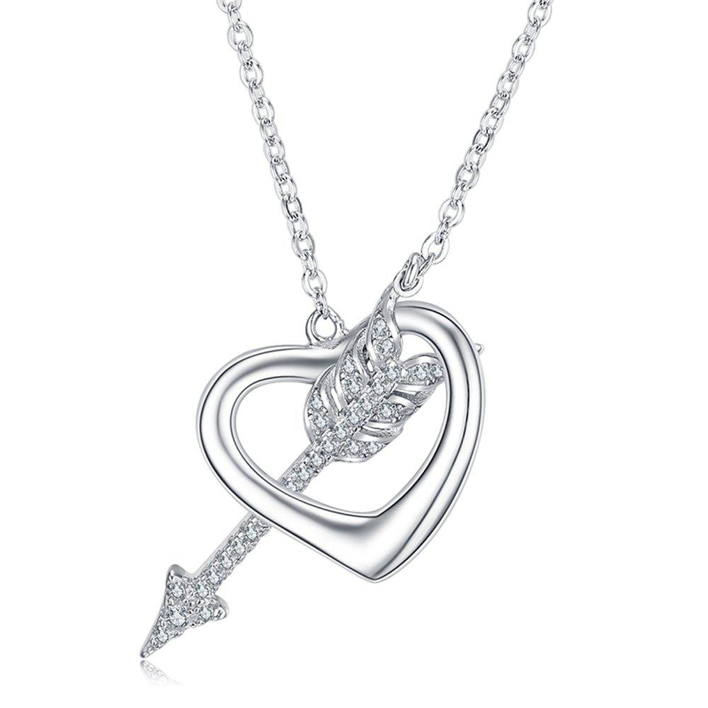 925 Silver Cupid Pendant Gift Jewelry - SILVER 2.1CM