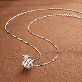 925 Silver Star Pendant Gift Jewelry - SILVER 1.6CM