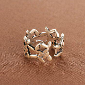 925 Silver Ring 0346 Jewelry Gift - SILVER ONE-SIZE