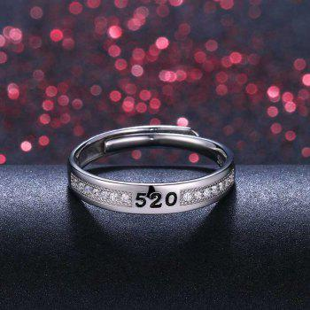 Men's Silver Ring Adjustable01301 Jewelry Gift - SILVER ONE-SIZE