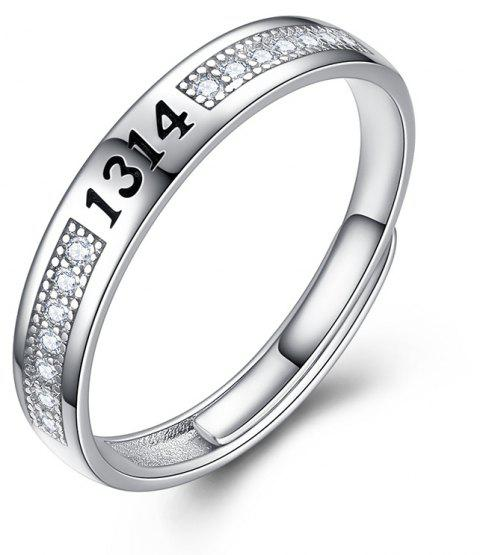 Lady's Silver Ring Adjustable01302 Gift Jewelry - SILVER ONE-SIZE