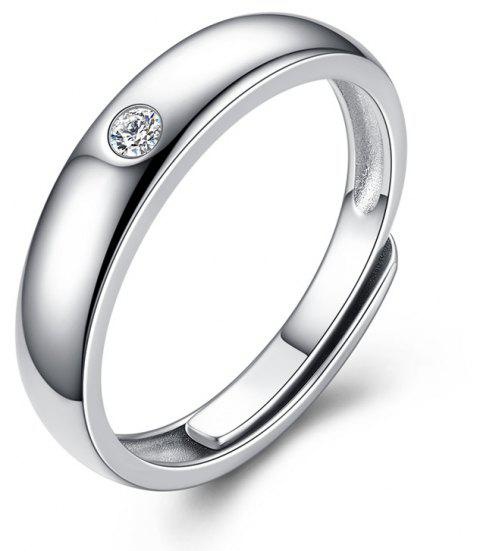Men's Silver Ring Adjustable01311 Jewelry Gift - SILVER ONE-SIZE