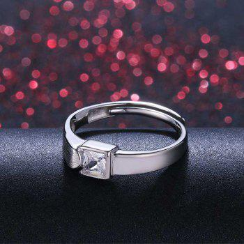 1 Pairs of Lovers' Silver Ring Adjustable0132 - SILVER ONE-SIZE