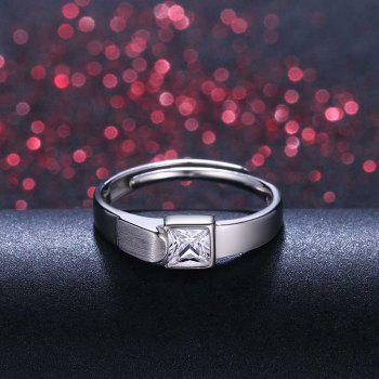 Men's Silver Ring Adjustable01321 Jewelry Gift - SILVER ONE-SIZE
