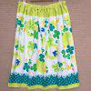 Pure Cotton Cartoon Printed Swimming Bath Skirt - GREEN