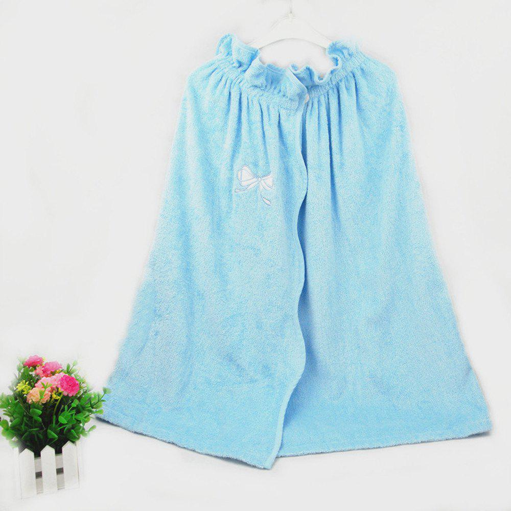 Bamboo Fiber Embroidery Bath Skirt - LIGHT BLUE