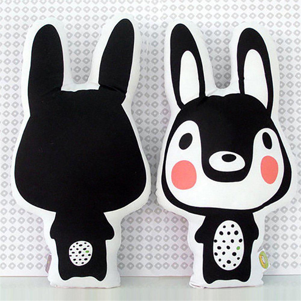 Children's Room Decoration Cartoon Rabbit Pillow - BLACK 45 X 25CM