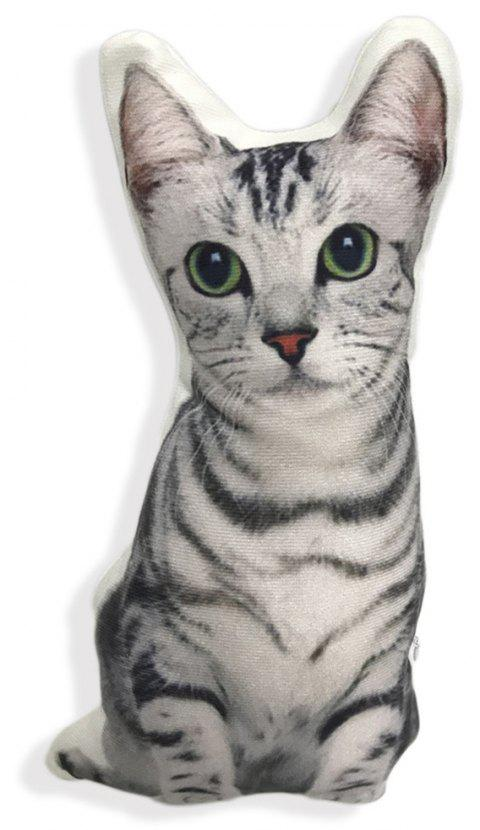 Cute 3D Cat Pillow Pet Cushion - GRAY 50 X 30CM