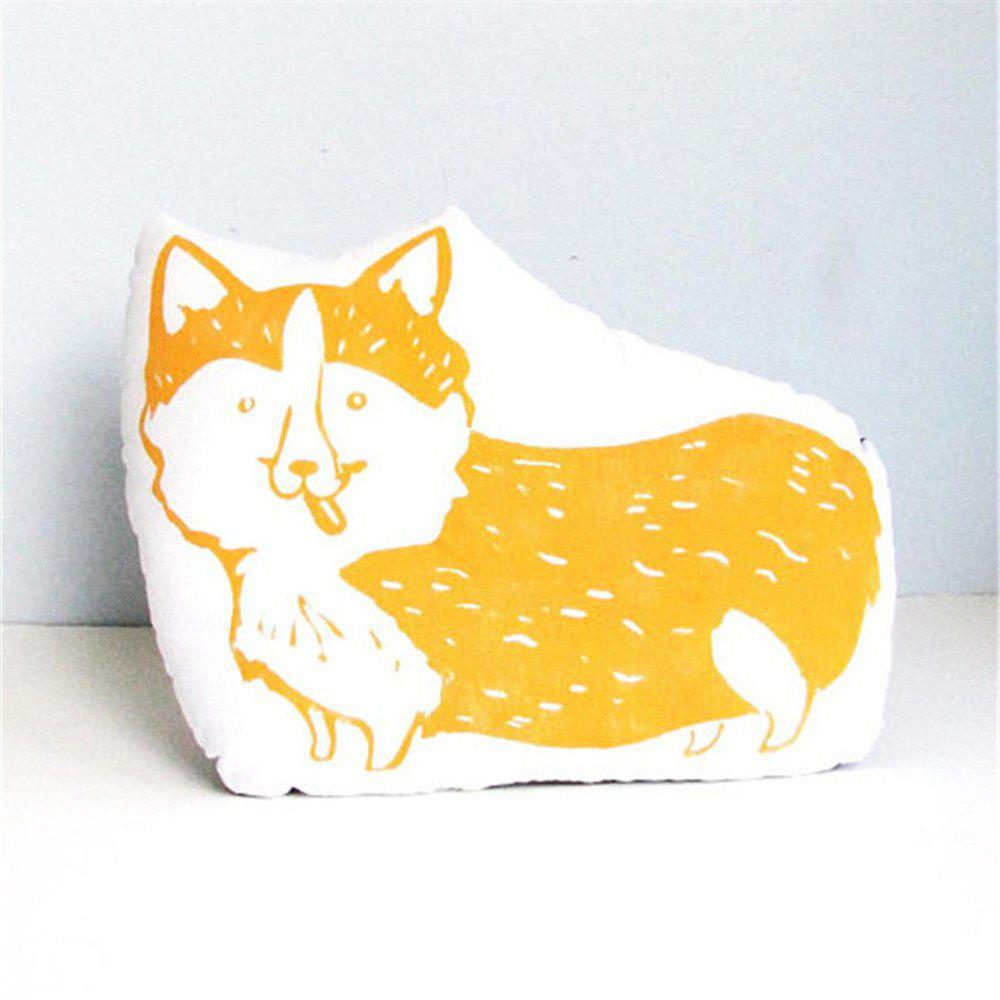 Cartoon Fox Pillow Double-Sided Printed Decorative Cushions - MAIZE 45 X 35CM