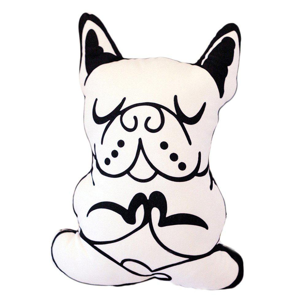 Cartoon Dog Pillows Decorative Cushions - WHITE 45 X 37