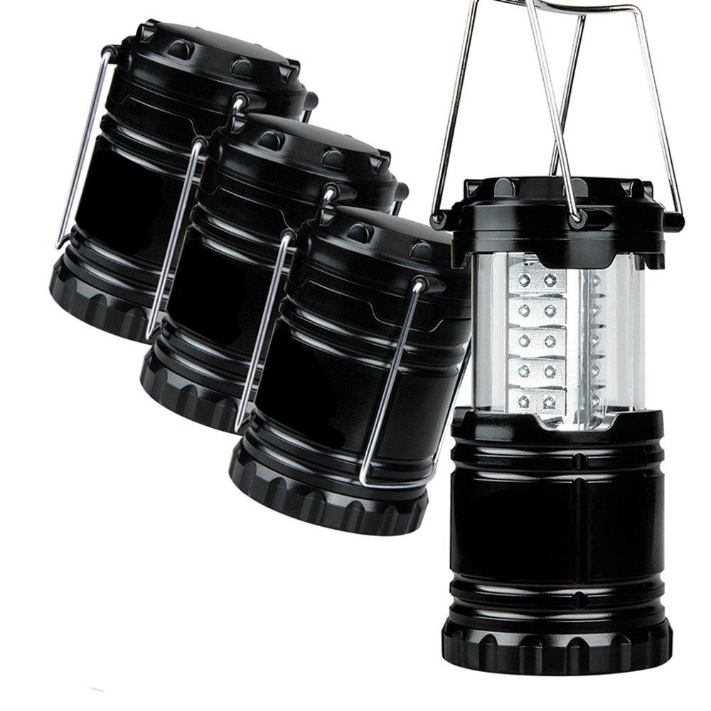 Portable LED Camping Lantern Flashlights Survival Kit for Emergency Hurricane Outage - BLACK