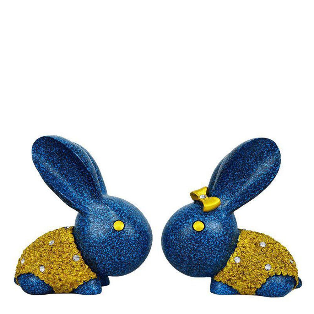 Amateurs de bijoux Rabbit Ornaments Creative Wedding Gift - Bleu Violet
