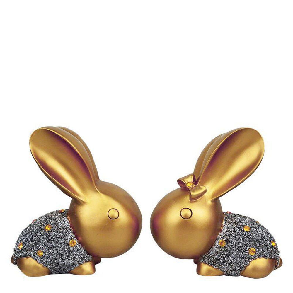 Jewelry Lovers Rabbit Ornaments Creative Wedding Gift - GOLDEN
