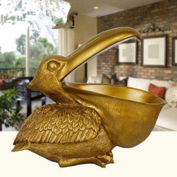 3D Resin Pelican Statue Birds Household Adornment Home Office Decor indoor - COPPER COLOR